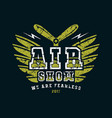 air show emblem vector image