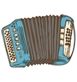 Blue Russian Bayan or Accordion vector image