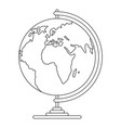 geography icon outline style vector image