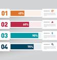 Modern infographics design element vector image