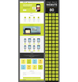 One page website template with icon set vector image