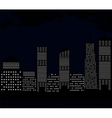 Silhouette of Big City on Background of Dark Sky vector image