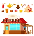 Dessert Coffeeshop Infographic Composition vector image