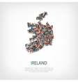 people map country Ireland vector image