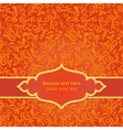 Red asiasn ornamental background vector image