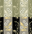 Seamless flower wall paper pattern vector image vector image