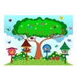 Bird at the park in sunny weather vector image