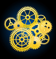 Clockwork mechanism vector image