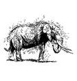 Hand sketch elephant vector image