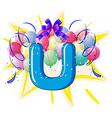 Balloon font series vector image