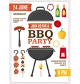 Barbecue and Grill Party Poster vector image