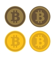 Bitcoin Icon Logo Set vector image