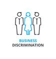 business discrimination concept outline icon vector image