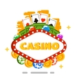 Casino isolated concept in flat style vector image