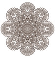 mandalapattern of henna floral elements vector image
