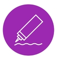 Sauce bottle line icon vector image