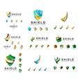 Set of company logotype branding designs shield vector image