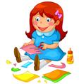 crafty girl vector image vector image