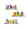 Abstract colorful city sketch for your design vector image vector image