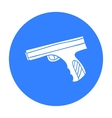 Paintball hand gun icon in outline style isolated vector image