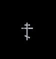 Christianity orthodox cross vector image