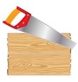 Tools hacksaw and blocks vector image