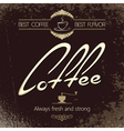 coffee vintage label vector image
