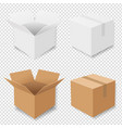 boxes set isolated vector image