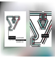 Business card design with letter y vector image