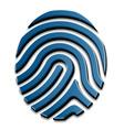 3D drawing fingerprint symbol vector image