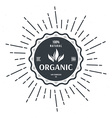 vintage style label for organic food and drink vector image