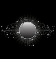 silver circle shield vector image vector image