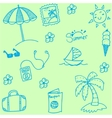 Summer collection doodle vector image