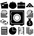 Business and finance signs set Flat vector image