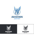 aviation logo design one vector image