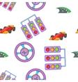 Car race pattern cartoon style vector image