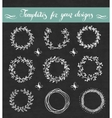 Chalkboard set of floral wreathes vector image