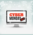 cyber monday sale design abstract winter vector image