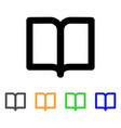open book stroke icon vector image
