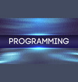 programming code abstract technology background vector image
