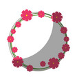 round frame with flowers vector image