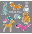 Set forest animals vector image