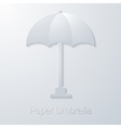 Summer Travel Paper Umbrella flat icon vector image