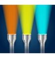 Three Pocket Torch Light vector image