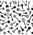 vntage and modern keys decorative pattern vector image