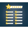 Stars Rating Kit vector image