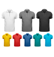 Black and white and color men t-shirts Design vector image vector image