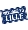 welcome to lille stamp vector image