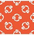 Orange dollar ruble exchange pattern vector image