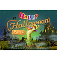 Happy Halloween party zombie background vector image